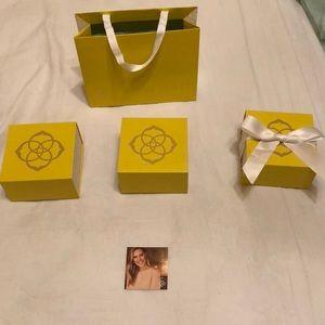 Kendra Scott box and bag
